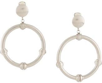 Gianfranco Ferré Pre Owned 2000s Dangling Hoop Earrings