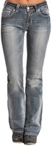 Rock & Roll Cowgirl Diamond Pocket Jeans - Mid Rise, Bootcut (For Women)