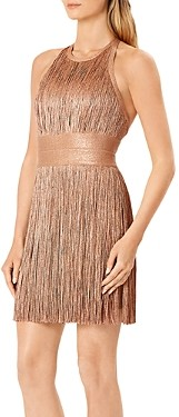 Herve Leger Fringe Open Back Dress