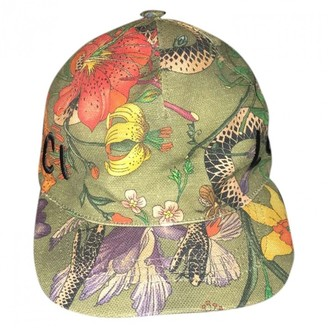 Gucci Green Cloth Hats & pull on hats