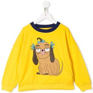 Mini Rodini Dog-Print Organic-Cotton Sweatshirt
