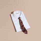 Burberry Slim Fit Striped Silk Tie