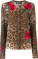 Dolce & Gabbana animal print cardigan