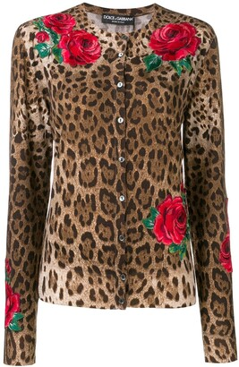 Dolce & Gabbana Animal Print Cardigan