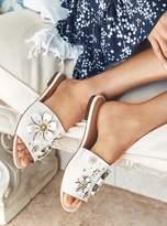 MICHAEL Michael Kors Tara Floral Embellished Leather Slide