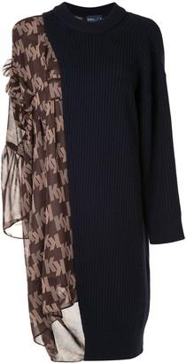 Kolor Contrast Panel Knitted Dress