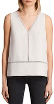 AllSaints Lace Trim Crace Top