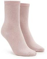 Forever 21 FOREVER 21+ Glitter Knit Crew Socks