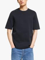 KIN Boxy Milano Stitch T-Shirt, Navy