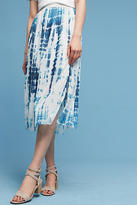 Go By Go Silk Tie-Dyed Silk Midi Skirt