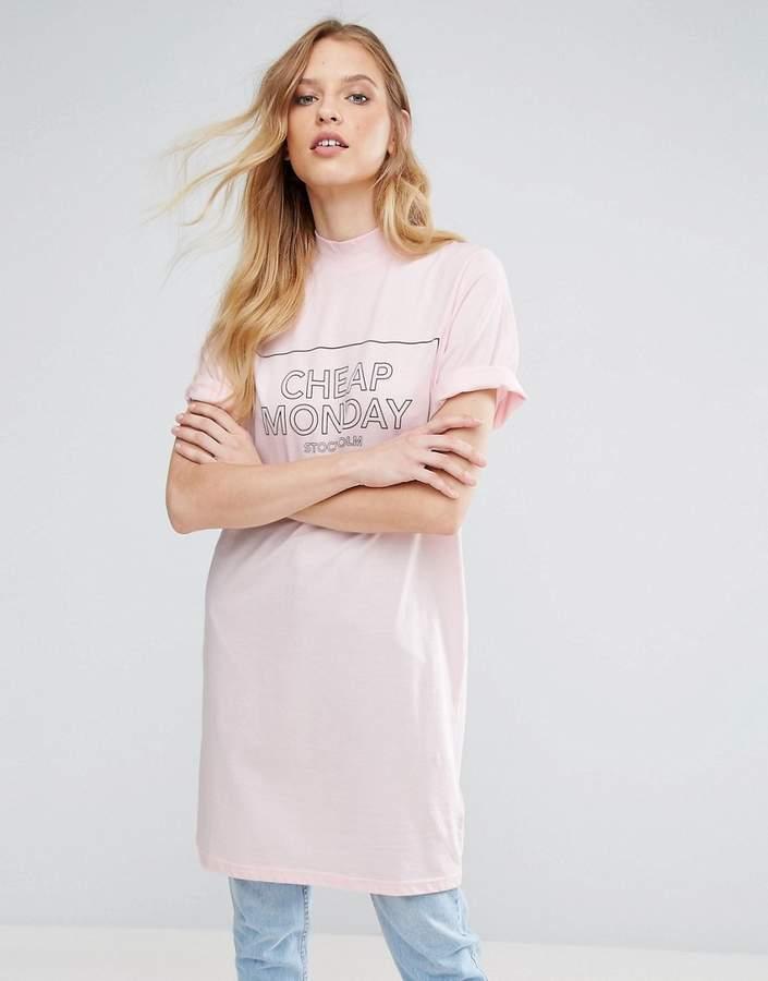 Cheap Monday Thin Box Logo Smash T-Shirt Dress