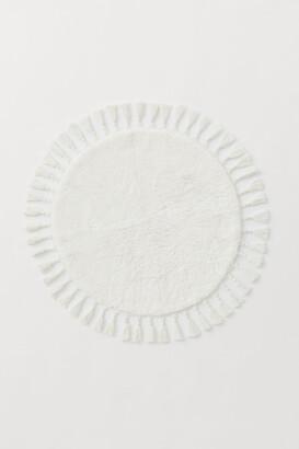 H&M Round Tasseled Bath Mat - White