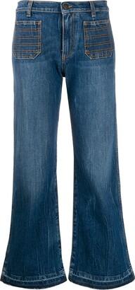 Philosophy di Lorenzo Serafini Cropped Flare Jeans