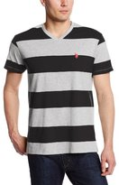 U.S. Polo Assn. Men's 2 Color Wide Striped V-Neck T-Shirt