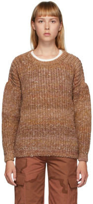 Marine Serre Multicolor Wool Oversized Chunky Sweater