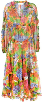 Zimmermann Riders floral ruffled dress