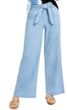 INC International Concepts Inc Wide-Leg Chambray Pants, Created for Macy's