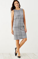 J. Jill Plaid Ponte Knit Sleeveless Dress