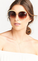 MUMU Crap Eyewear ~ The Cloud Magic ~ Brushed Gold with Amber Gradient Lenses