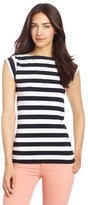 French Connection Women's Stretch Stripe Top
