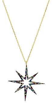 Aqua Multicolor Star Pendant Necklace in Sterling Silver, 16 - 100% Exclusive