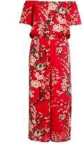 Quiz *Quiz Red Floral Culottes Jumpsuit