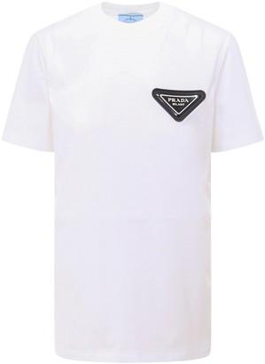 Prada Logo Patch T-Shirt