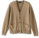 Classic Men's Traditional Fit Supima Cotton Cardigan Sweater-Rich Red