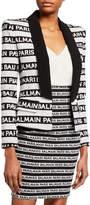 Balmain Stripe Shawl Collar Jacket