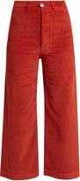 Masscob Wide-leg corduroy stretch-cotton cropped trousers
