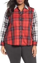 Foxcroft Mixed Plaid Shirt (Plus Size)