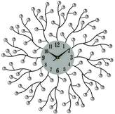 """Andover Mills Kovach Elegant Bejeweled Abstract Branches Round 20"""" Wall Clock"""