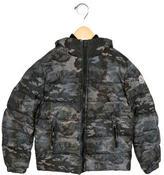 Moncler Boys' Aubert Hooded Down Jacket