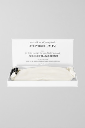 Slip Silk Eye Mask - White