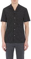 Officine Generale Men's Pajama-Style Shirt-BLACK