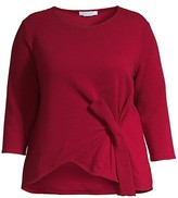 Thumbnail for your product : Joan Vass, Plus Size Ottoman Tie Top