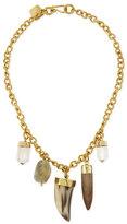 Ashley Pittman Agua Mixed Charm Horn Necklace