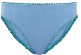 Araks Isabella Cotton Briefs - Womens - Blue