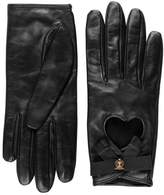 Gucci Leather gloves with grosgrain bow