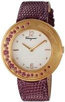 Salvatore Ferragamo Women's FF5940015 Gancino Sparkling Analog Display Quartz Red Watch