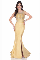 Terani Couture 1623M1831 Jeweled Bateau Trumpet Dress