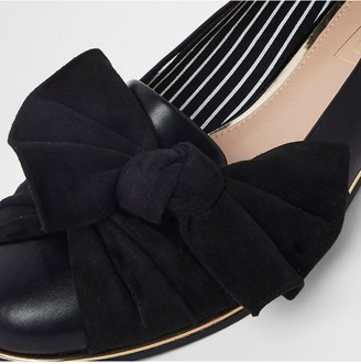 River Island Bow Front Loafer - Black