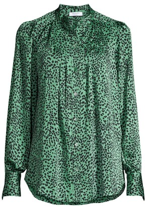 Equipment Perce Leopard-Print Blouse