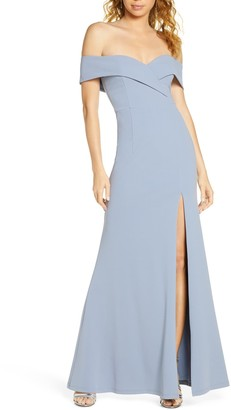 Lulus Song of Love Off the Shoulder Knit Gown