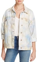 Free People Tie-Dye Denim Trucker Jacket