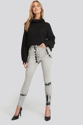 NA-KD Tie Dye Skinny Jeans