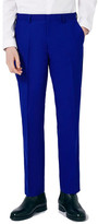 Topman Blue Skinny Fit Suit Trousers