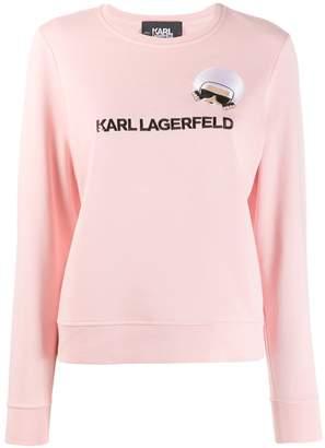 Karl Lagerfeld Paris K/Ikonik embroidered sweatshirt