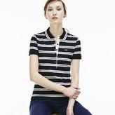 Lacoste Women's Slim Fit Stripe Polo Shirt