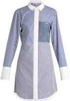 Elizabeth and James Jay multi-striped cotton-poplin shirtdress